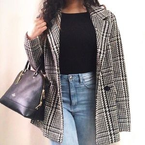 TOMMY HILFIGER HOUNDSTOOTH DOUBLE BREASTED JACKET